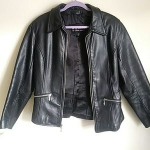 Womens real Leather Motorcycle Jacket